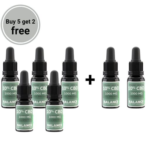 Buy 5 get 2 free bundle - CBD olie 10% (1000mg)